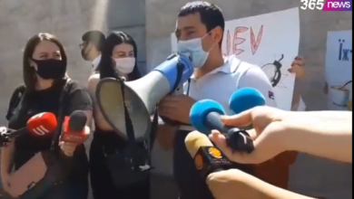 Photo of ՀՅԴ երիտասարդները բողոքի ցույց են անում Ուկրաինայի դեսպանատան առջև (ուղիղ)