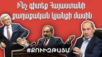Photo of Ի՞նչ գիտեք Հայաստանի քաղաքական կյանքի մասին