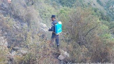 Photo of Գողթանիկ բնակավայրի «Ջանի» կոչվող տարածքում հրդեհաշիջման աշխատանքները վերսկսվել են